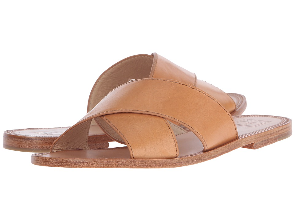 Frye - Ruth Criss Cross (Natural Smooth Full Grain) Women's Sandals
