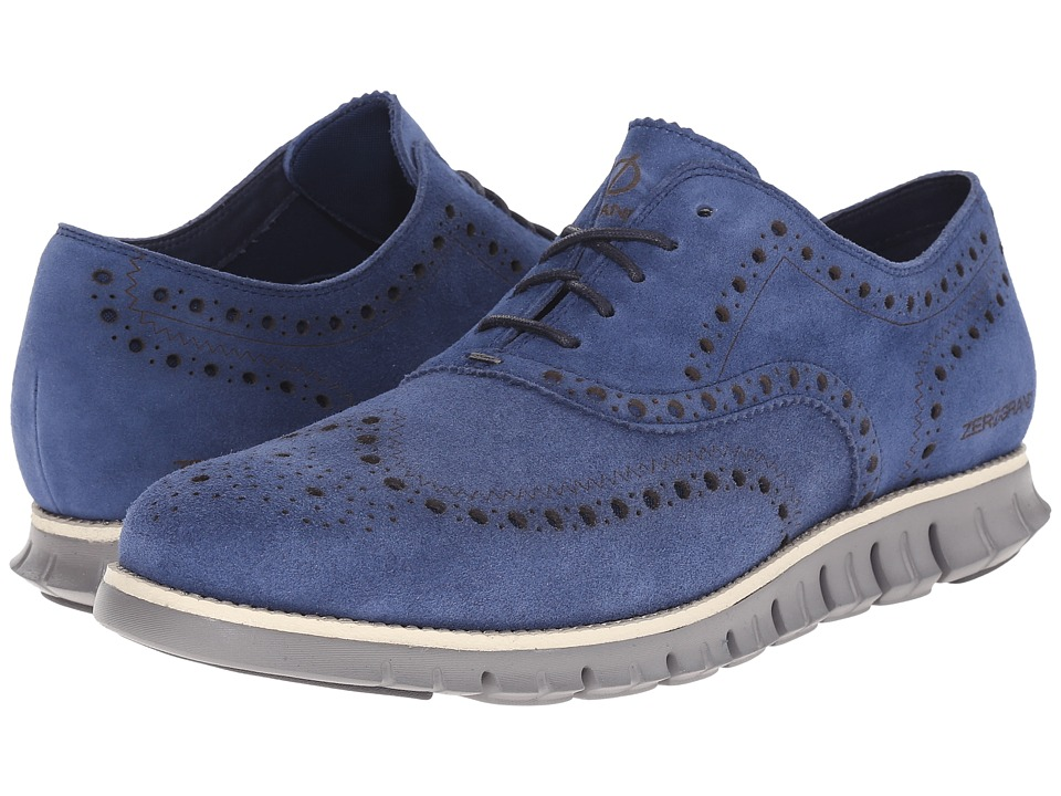 Cole Haan - Zerogrand Wing Ox (Estate Blue/Ironstone) Men's Lace Up Wing Tip Shoes