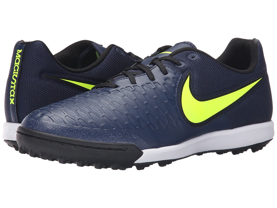 Nike - Magistax Pro TF (Midnight Navy/Gum Light Brown/White/Volt) Men's Soccer Shoes