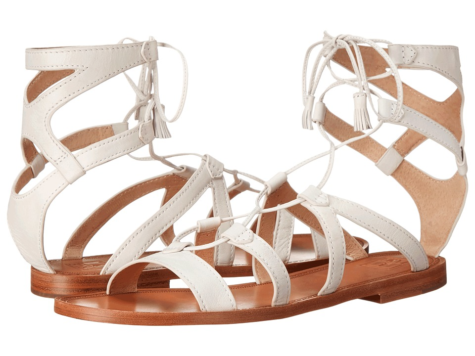 Frye - Ruth Gladiator Short Sandal (White Soft Full Grain) Women's Sandals