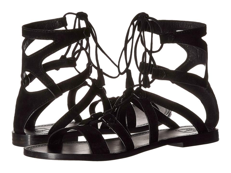 Frye - Ruth Gladiator Short Sandal (Black Suede) Women's Sandals