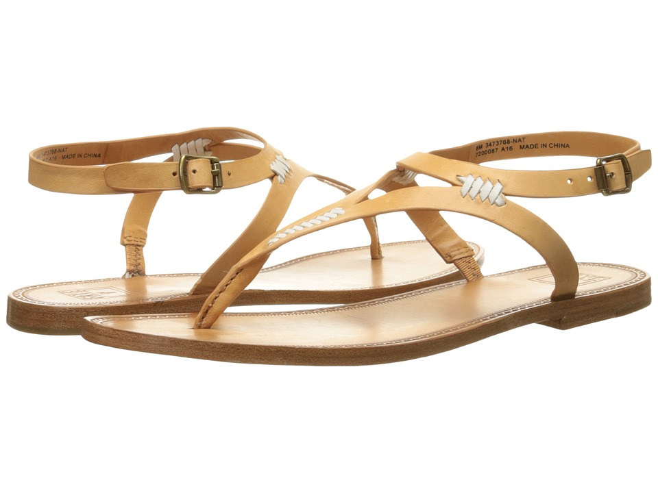 Frye Ruth Whipstitch Sandal (Natural Smooth Full Grain) Women