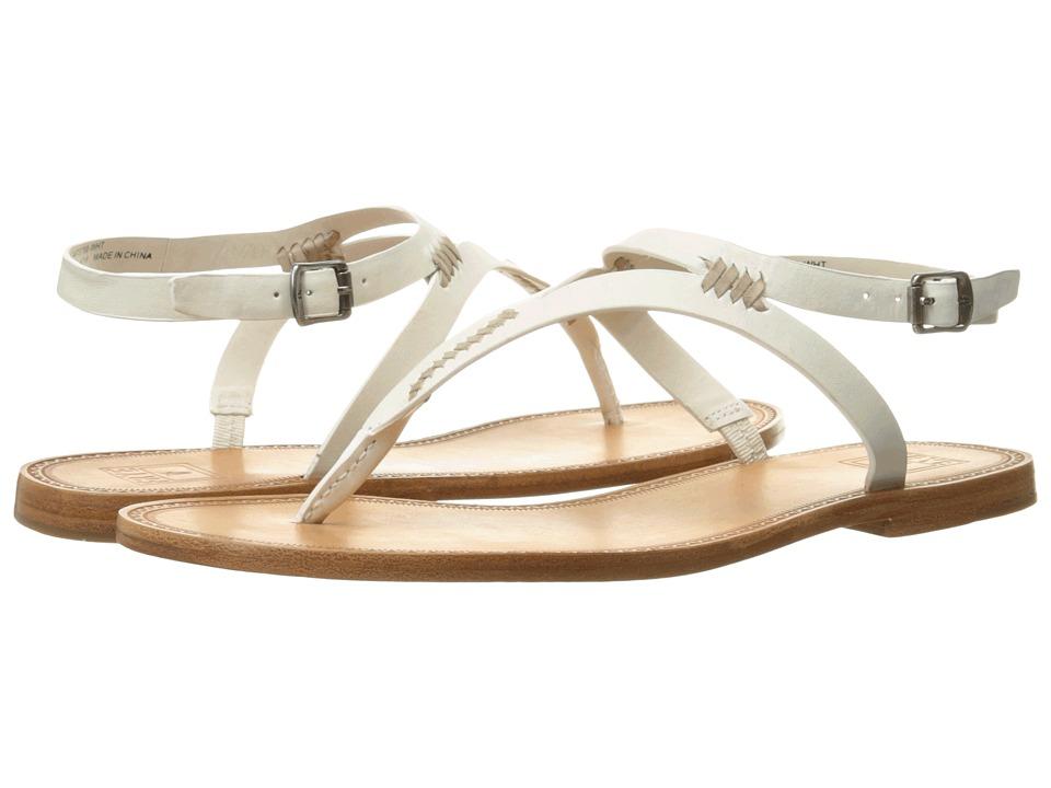 Frye Ruth Whipstitch Sandal (White Smooth Full Grain) Women