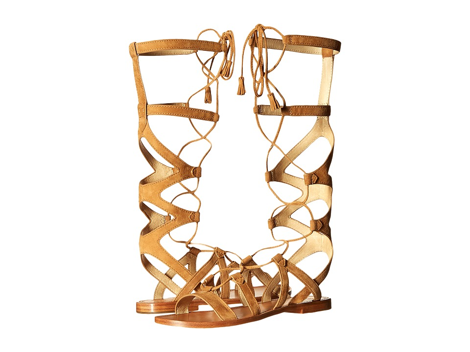 Frye Ruth Gladiator Tall Sandal (Sand Suede) Women