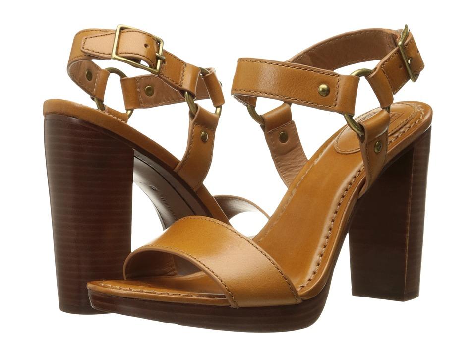 Frye - Sara Harness Sandal (Tan Smooth Polished Veg) High Heels