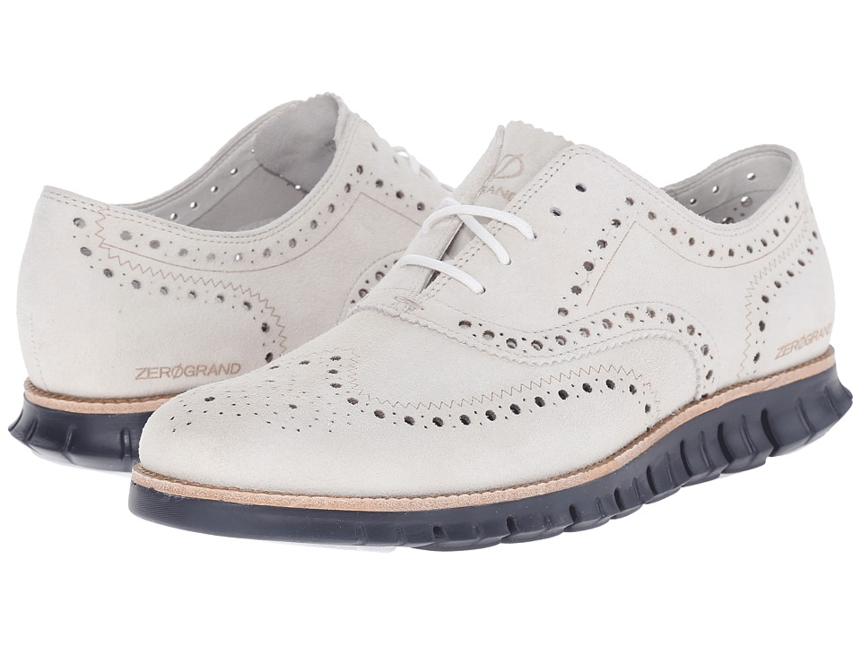 Cole Haan - Zerogrand Wing Oxford (Moonbeam/Navy Ink) Men's Lace up casual Shoes