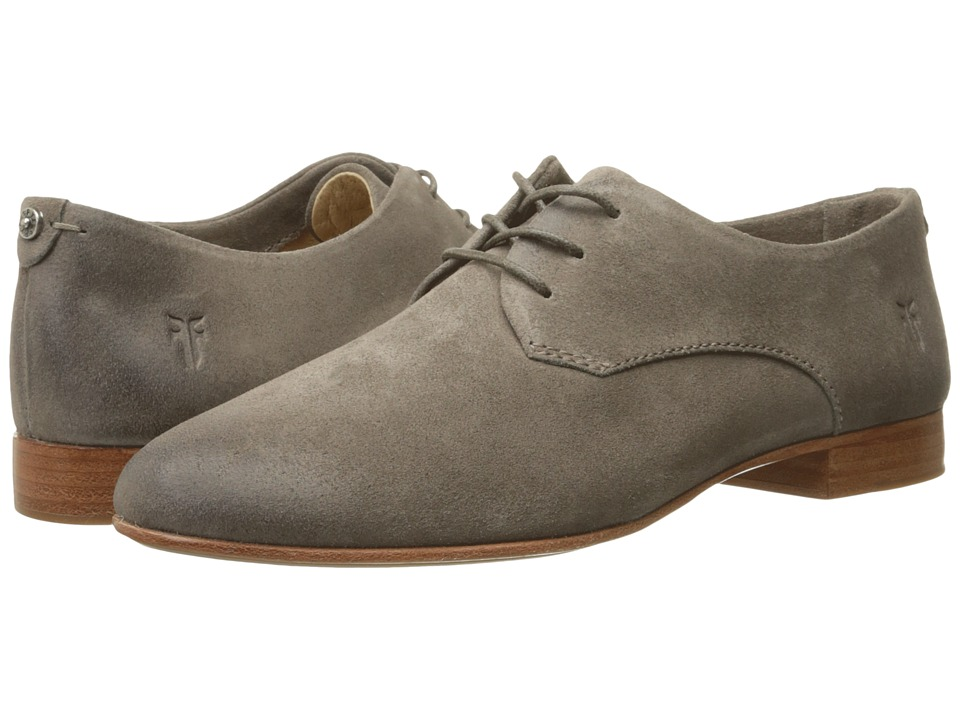 Frye - Tracy Oxford (Dark Grey Oiled Suede) Women's Lace up casual Shoes