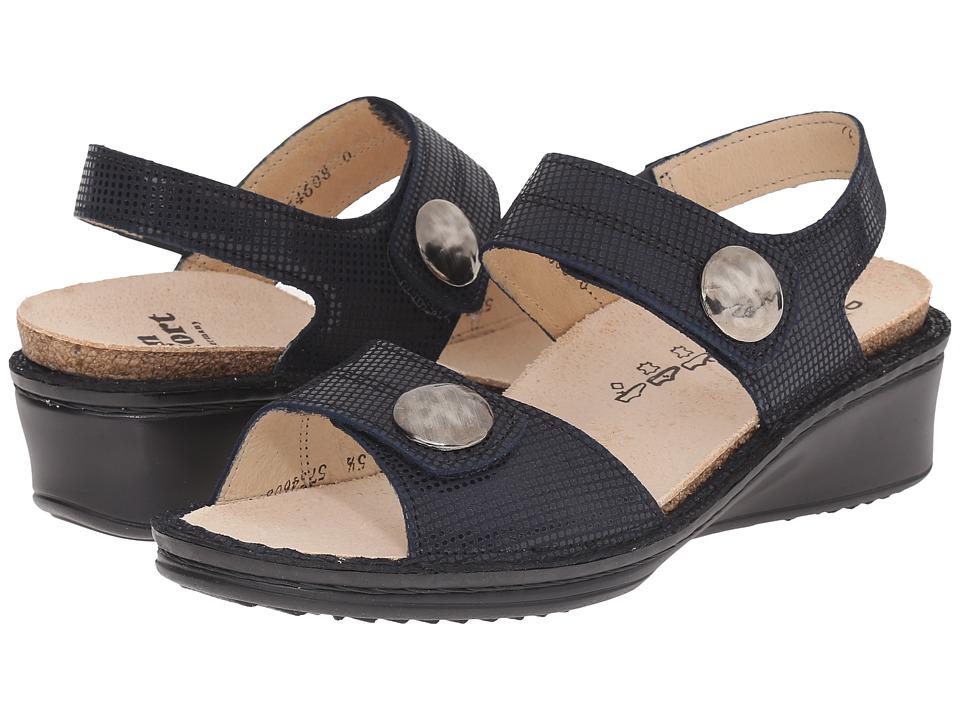 Finn Comfort - Alanya (Navy) Women's Sandals