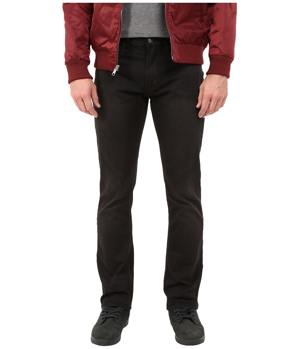 Buffalo David Bitton - Six-X Slim Straight Fit Jeans in Worned Black Denim (Worned Black Denim) Men