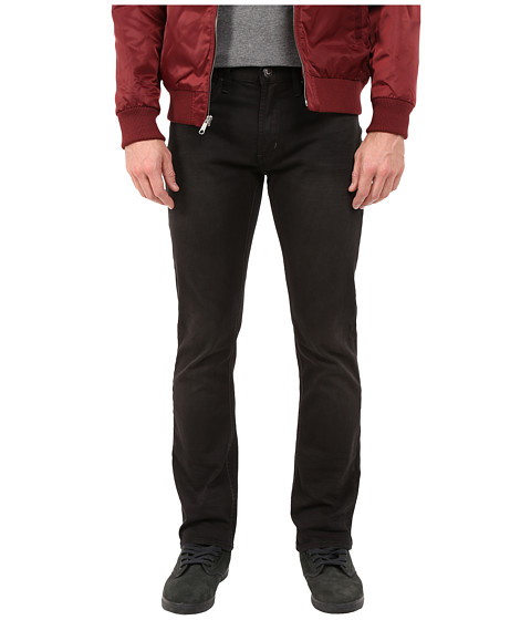 Buffalo David Bitton - Six-X Slim Straight Fit Jeans in Worned Black Denim (Worned Black Denim) Men's Jeans