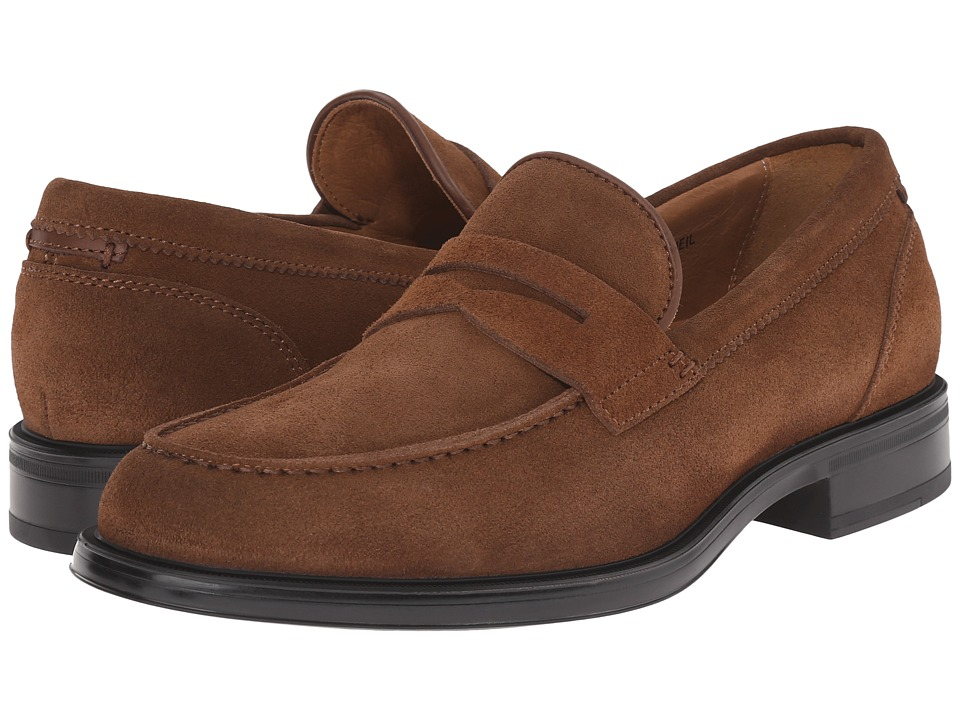 Aquatalia - Neil (Medium Brown Dress Suede) Men's Slip on Shoes