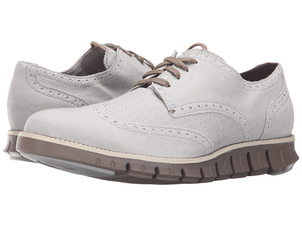 Cole Haan ZeroGrand Deconstructed No-Stitch (Silver Mist Canvas) Men