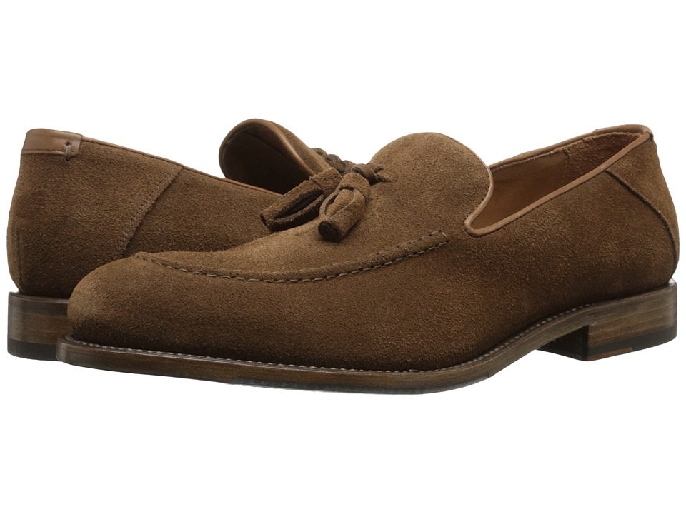 Aquatalia - Falco (Medium Brown Dress Suede) Men's Slip on Shoes