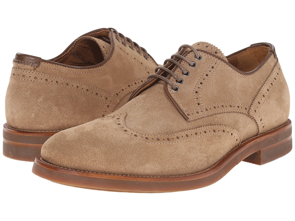 Aquatalia - Carson (Tan Dress Suede) Men's Lace up casual Shoes