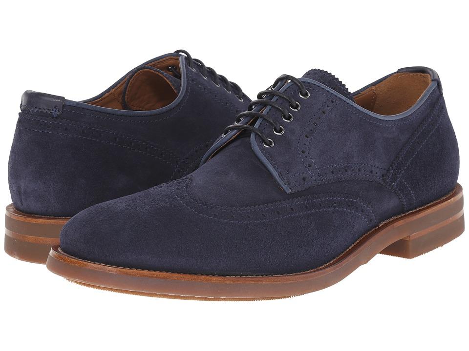 Aquatalia - Carson (Navy Dress Suede) Men's Lace up casual Shoes