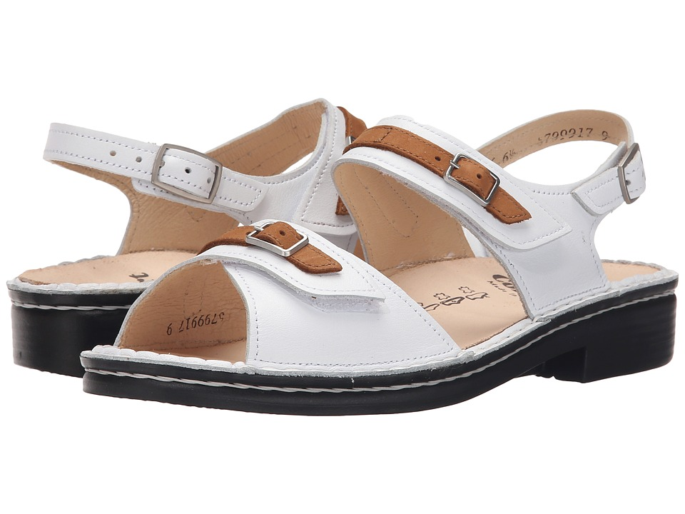 Finn Comfort - Sasso (White/Brown) Women's Sandals