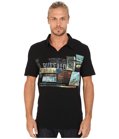 Buffalo David Bitton - Nadison Short Sleeve Polo Shirt (Black) Men