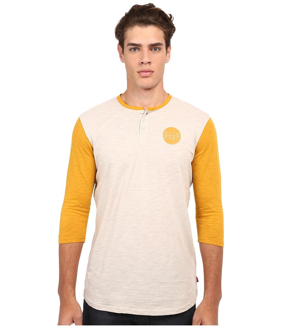 Image of Altamont - High Dosage Clean Henley (Burnt Orange) Men's Clothing