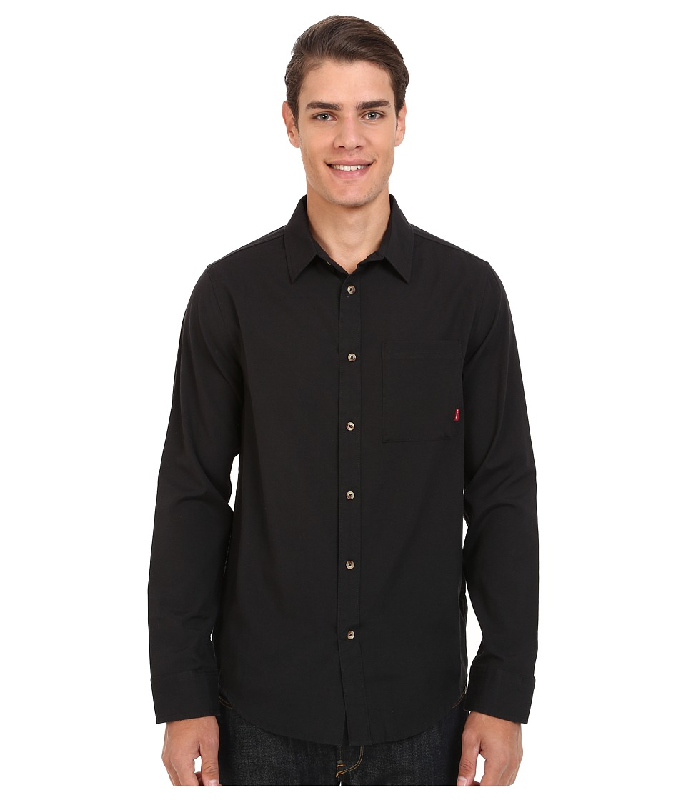 Image of Altamont - Alass Long Sleeve Woven (Black) Men's Clothing