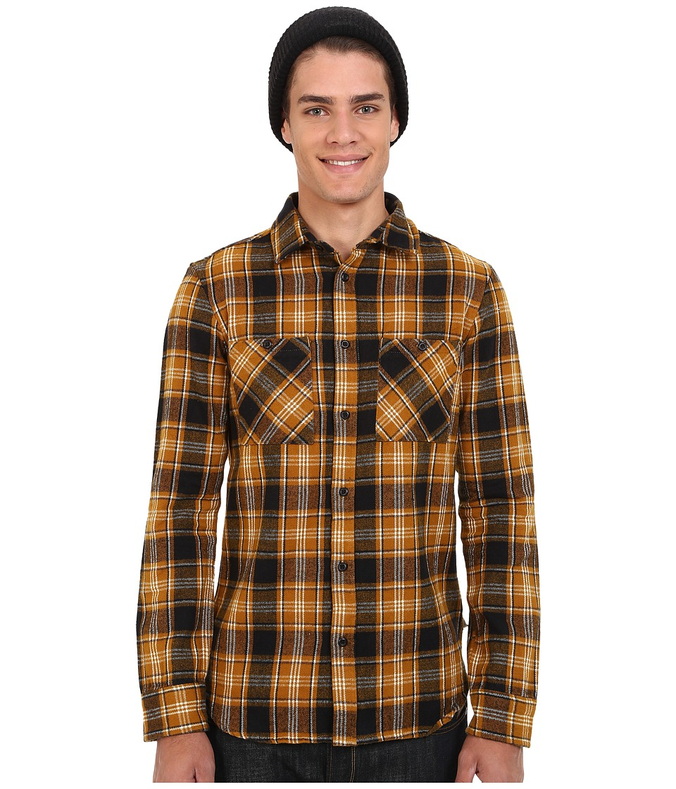 Altamont - Binary Long Sleeve Flannel (Black) Men's Clothing