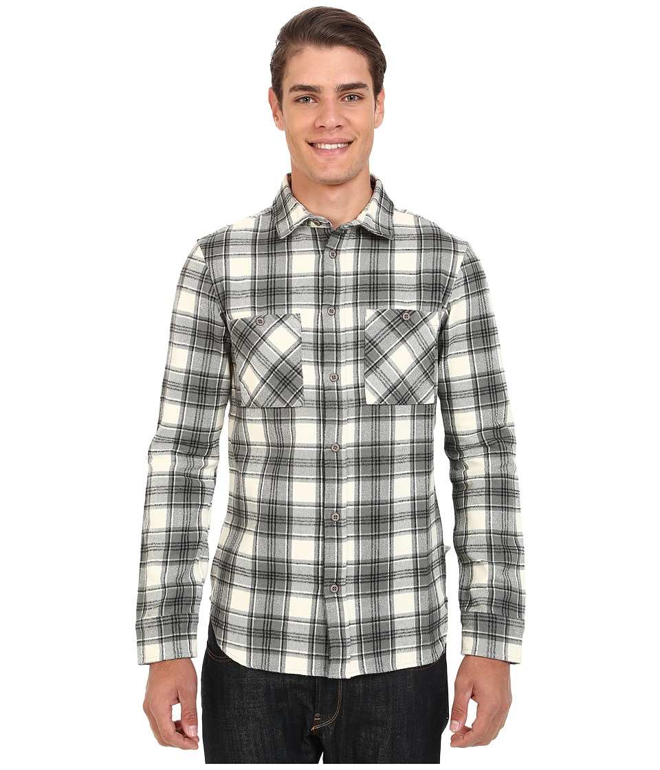 Altamont - Binary Long Sleeve Flannel (Dirty White) Men's Clothing