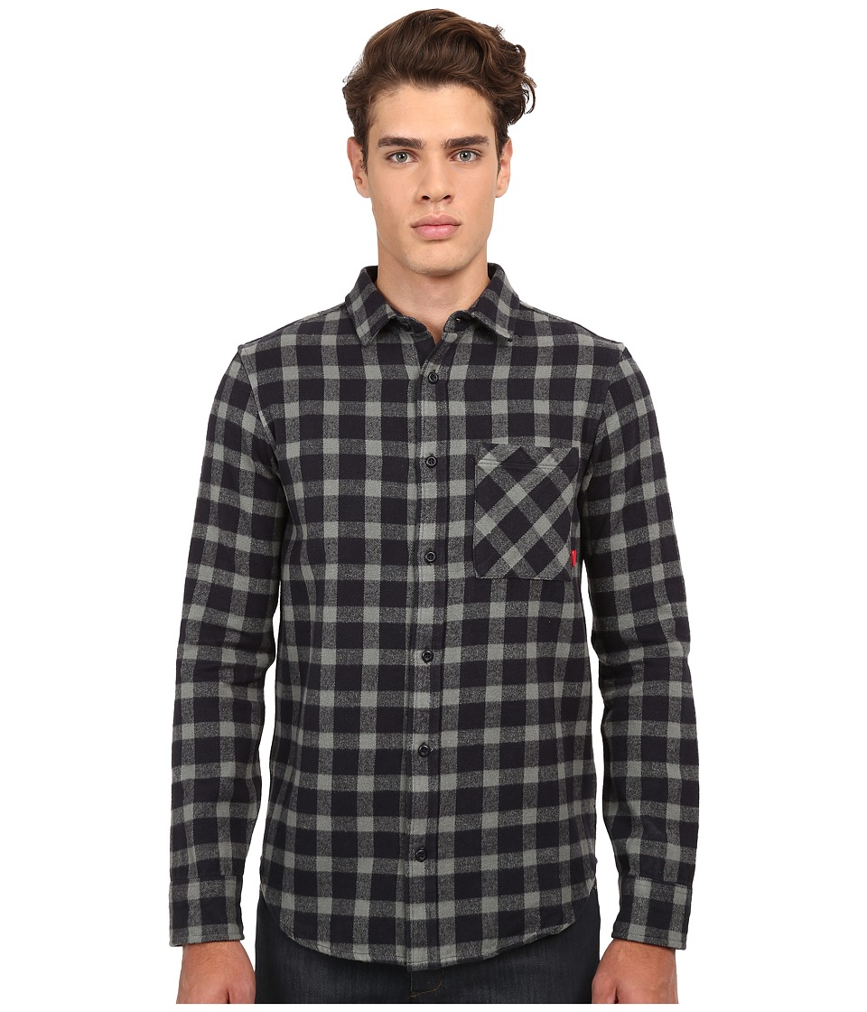 Altamont - Santaromana Long Sleeve Flannel (Navy) Men's Clothing