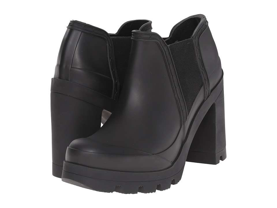 Hunter - Original High Heel Shoe (Black) Women's Rain Boots