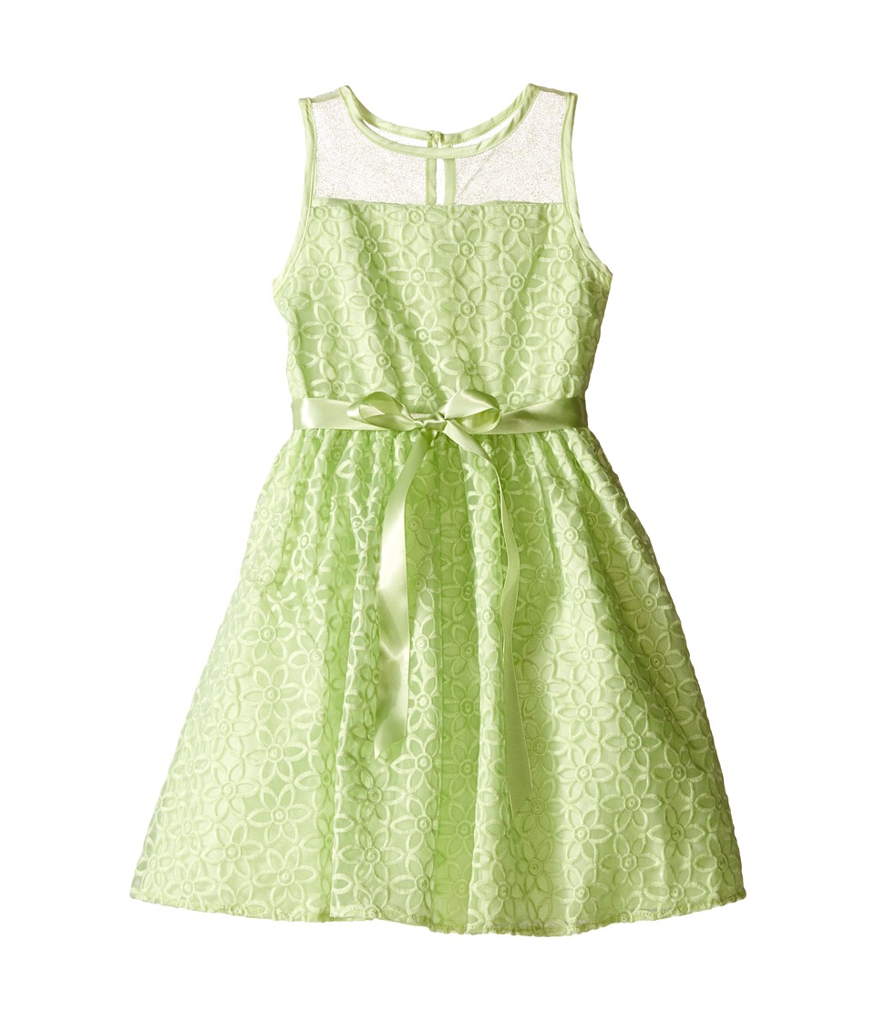 Us Angels - Embroidered Daisy Organza Mesh Dress (Toddler/Little Kids) (Mint) Girl's Dress