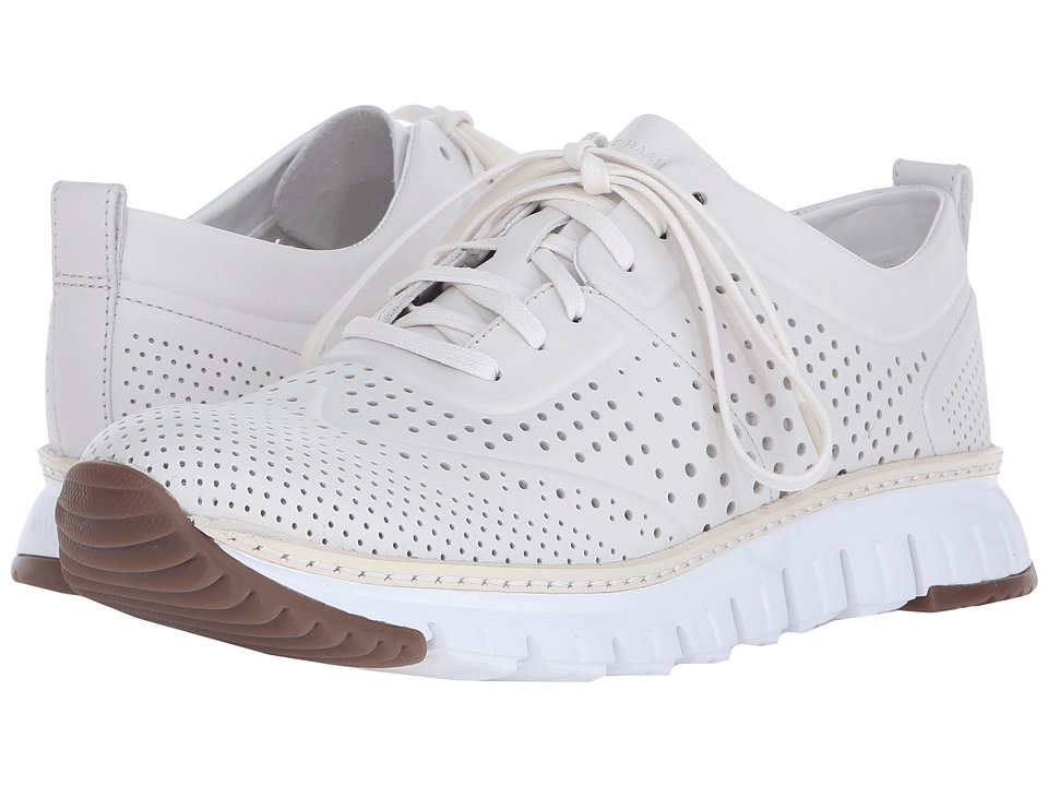 Cole Haan - ZeroGrand Perforated Sneakers (White) Men's Lace up casual Shoes