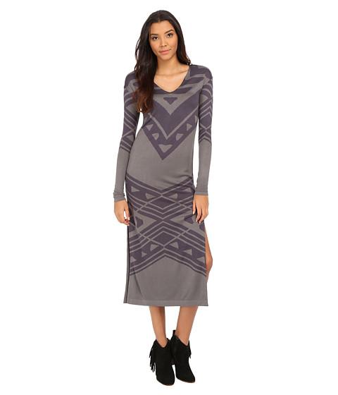 Free People - Patterned Bauhaus Swit Dress (Storm/Navy Combo) Women