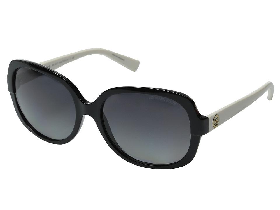 Michael Kors - Isle of Skye (Black/Off-White/Grey Gradient Polarized) Fashion Sunglasses