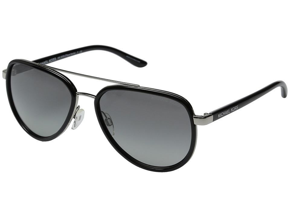 Michael Kors Playa Norte (Black/Silver) Fashion Sunglasses