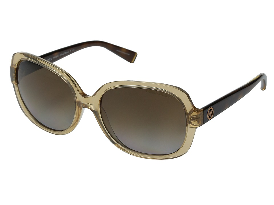 Michael Kors - Isle of Skye (Glossy Brown/Tortoise/Brown Gradient Polarized) Fashion Sunglasses