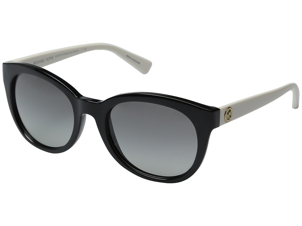 Michael Kors - Champagne Beach (Black/Off-White) Fashion Sunglasses