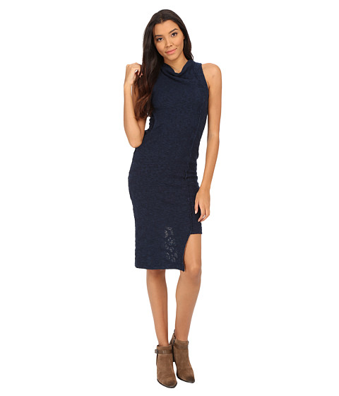 Free People - Cora Midi Dress (Deep Sapphire Combo) Women's Dress