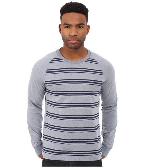 Original Penguin - Long Sleeve Raglan Heathered (Flint Stone) Men