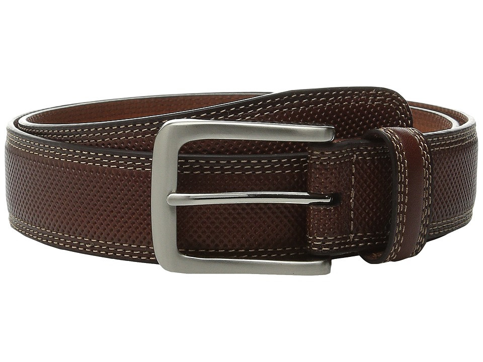 Johnston & Murphy - All Over Perfed Belt (Tan) Men's Belts