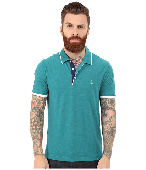 Original Penguin - Tri Color Mearl Polo (Everglade) Men