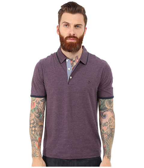 Original Penguin - Tri Color Mearl Polo (Nightshade) Men