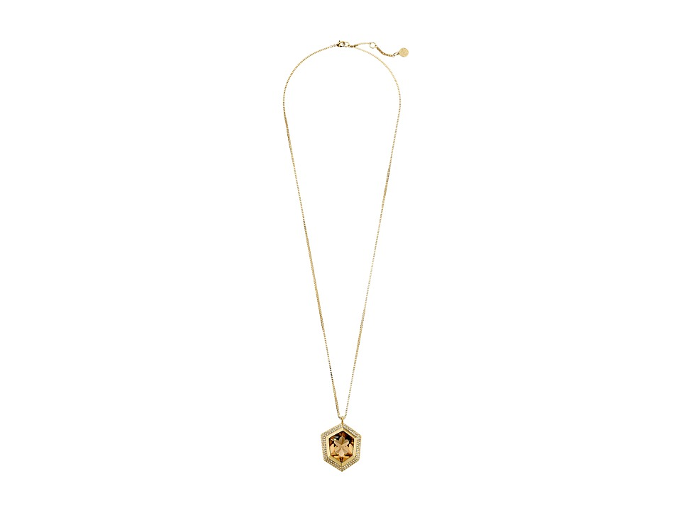 Vince Camuto - 32 Stone Pendant Necklace (Gold/Champagne/Crystal) Necklace