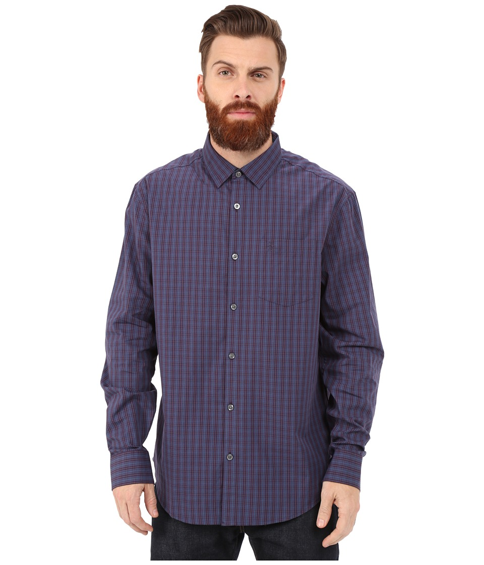 Original Penguin - Long Sleeve Small Even Check (Purple Pennant) Men's Long Sleeve Button Up