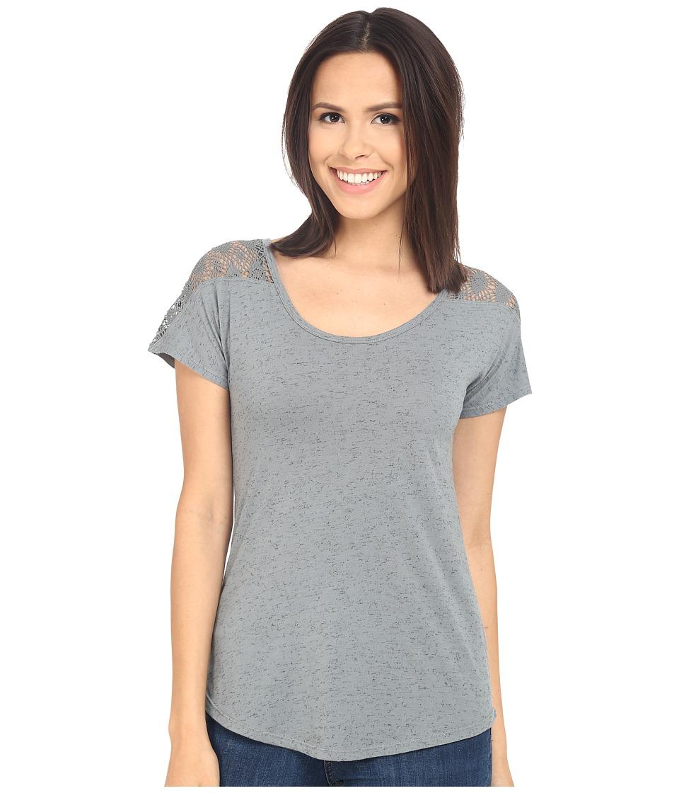 UNIONBAY - Space Dye Loose Jersey Natalie Top (Pale New Black) Women's Clothing
