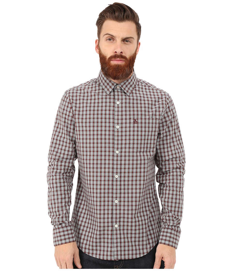 Original Penguin - Updated Long Sleeve Shirt (Black Coffee) Men