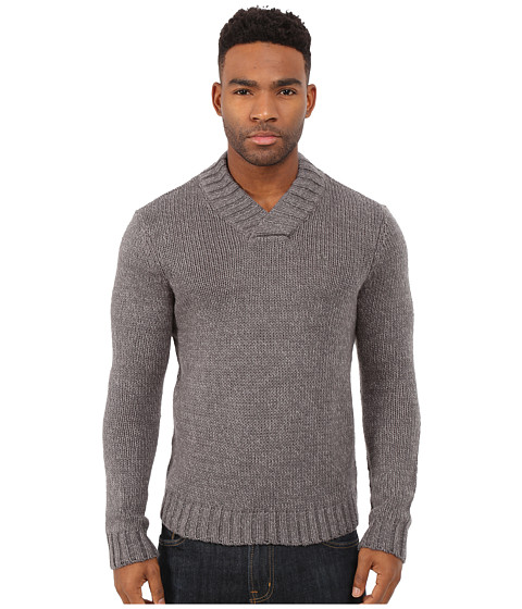 Original Penguin - Long Sleeve Shawl Collar (Castlerock) Men's Clothing