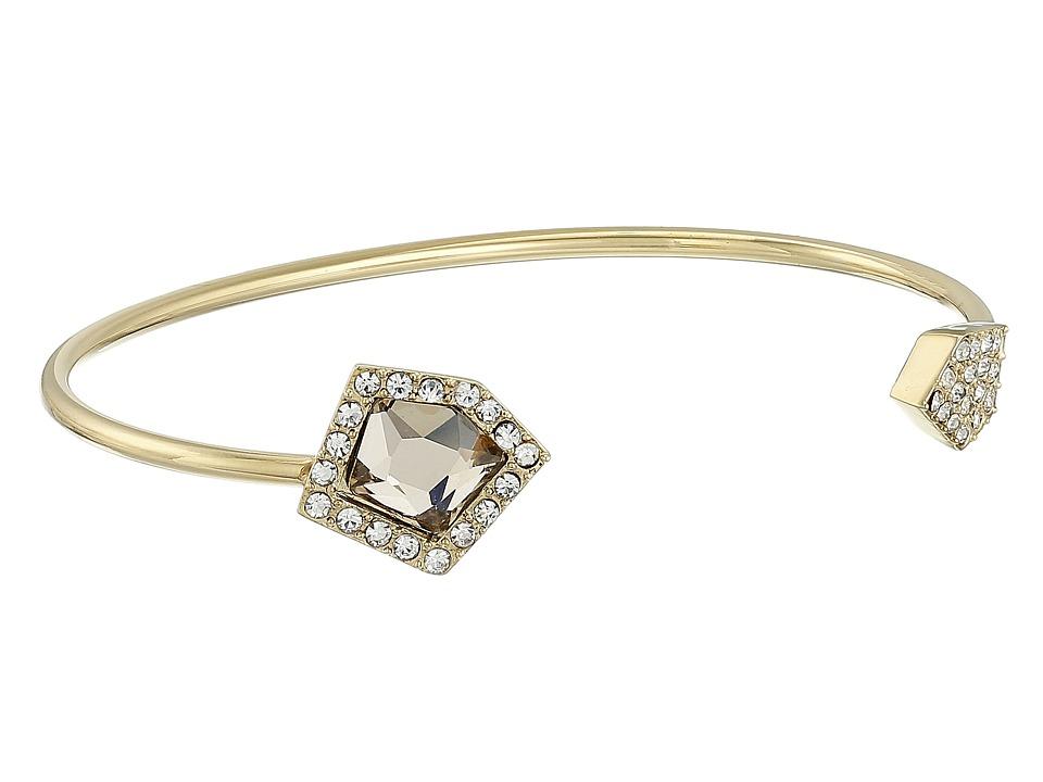 Vince Camuto - Asymmetric Stone C Cuff Bracelet (Gold/Champagne/Crystal) Bracelet
