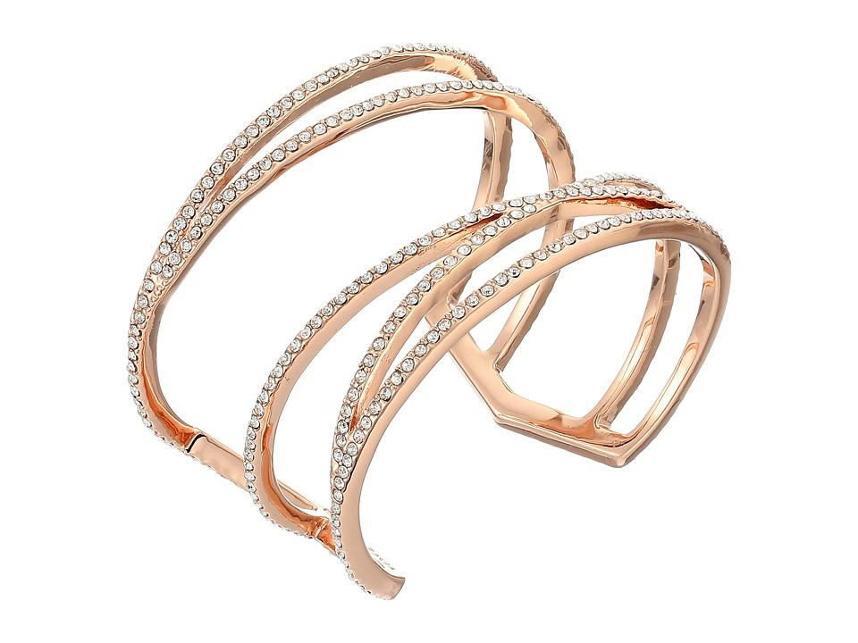 Vince Camuto - Crisscross Cuff Bracelet (Rose Gold/Crystal) Bracelet