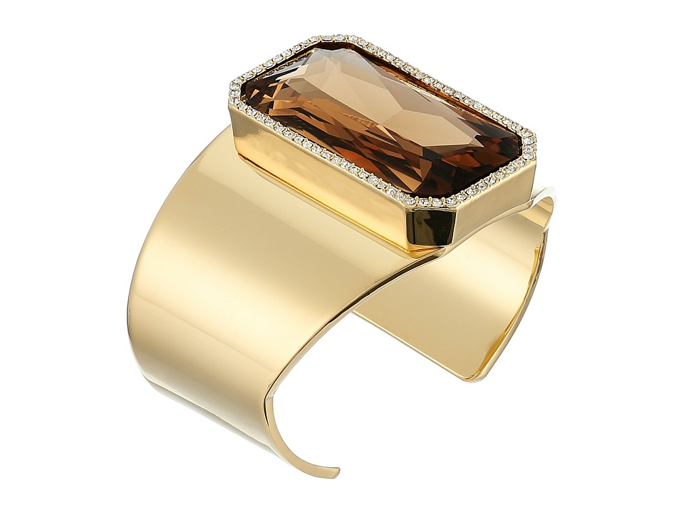 Vince Camuto - Drama Stone Cuff Bracelet (Gold/Champagne/Crystal) Bracelet