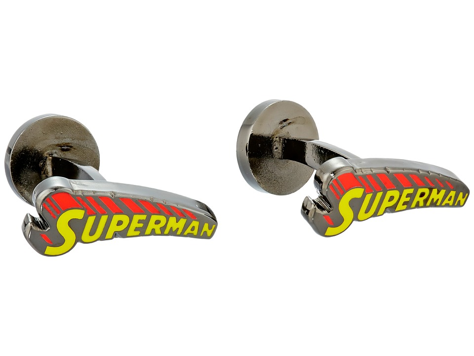 Cufflinks Inc. - Vintage Superman Comic Book Cover Logo Cufflinks (Yellow/Red) Cuff Links