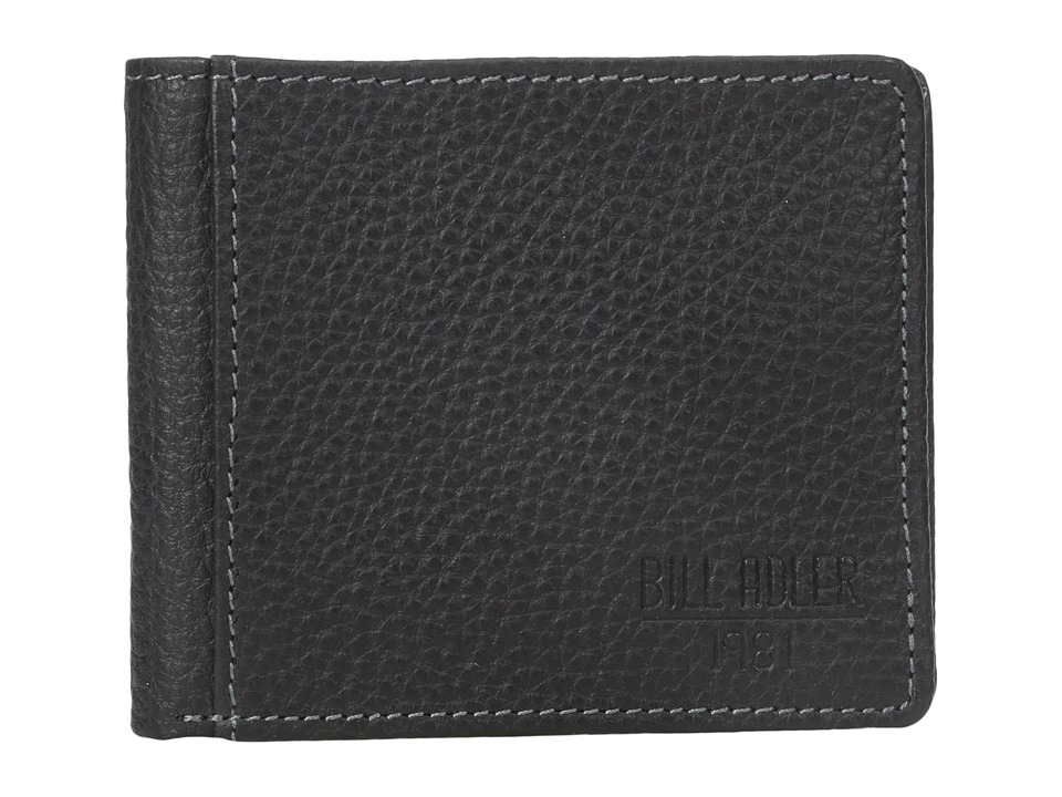 Bill Adler 1981 - Pebble Billfold w/ Exterior Pocket (Black) Bill-fold Wallet