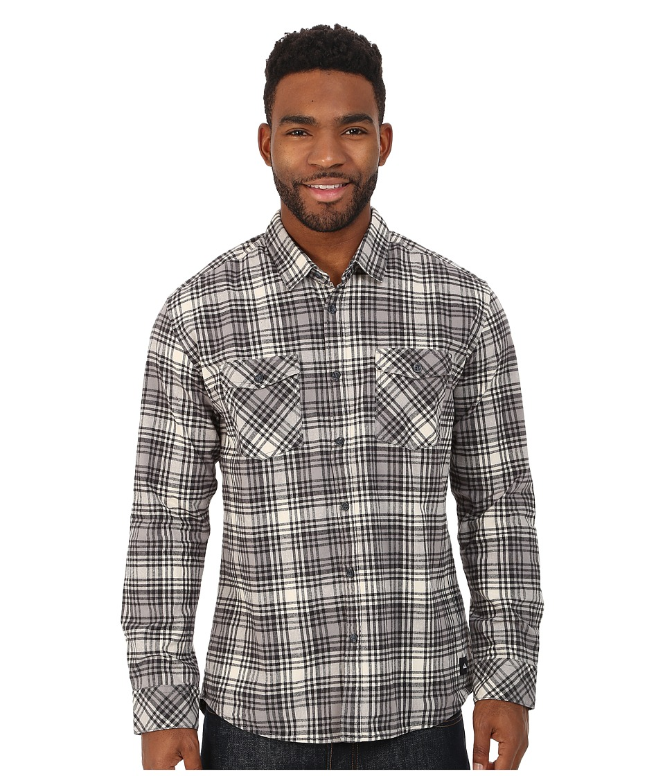 Quiksilver - Everyday Flannel Woven Top (Everyday Flannel Castlerock) Men's Long Sleeve Button Up